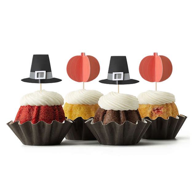 Harvest Hats and Pumpkins Bundt Cake