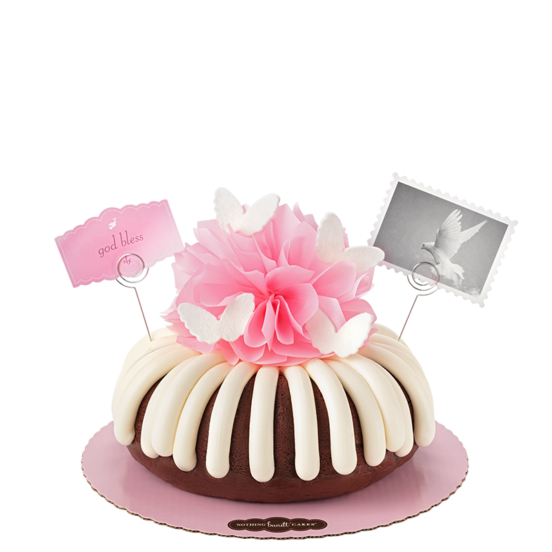 God Bless in Pink Bundt Cake