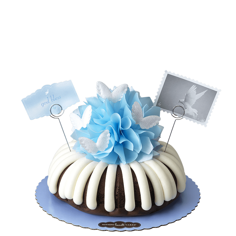 God Bless (Blue) Bundt Cake