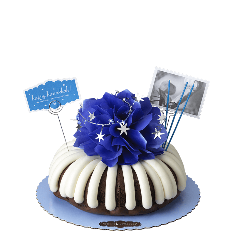 Happy Hanukkah Bundt Cake