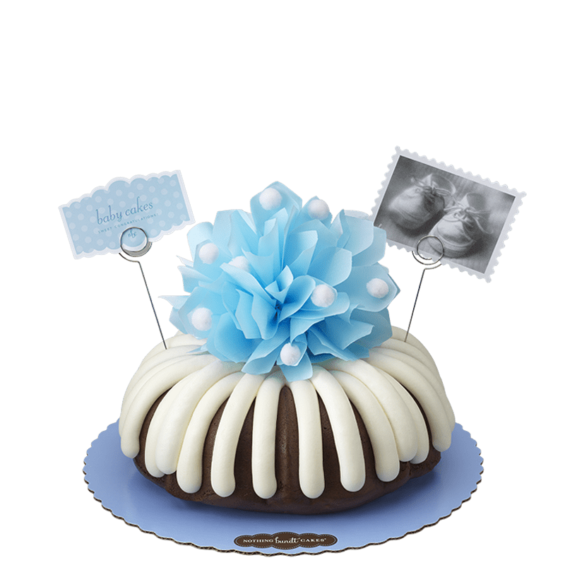 Baby Cakes in Blue Bundt Cake